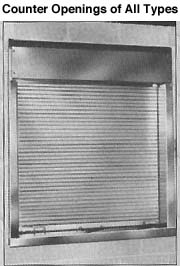 Counter Shutters  - Steelcraft Folding Gate Corp.